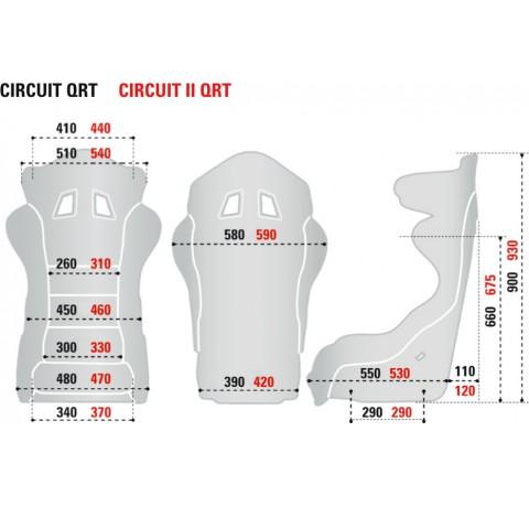 Крісло (ковш) для автоспорту Sparco Circuit QRT