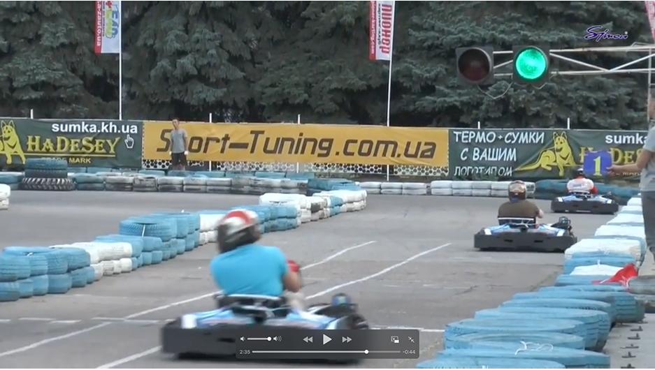 """Відео: гонка """"Старики-розбійники"""" картинг-клуб Піонер"""